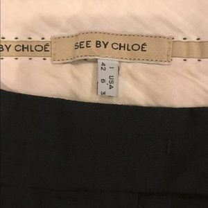 See By Chloe Dress Pants Black Size 6 Retail $295